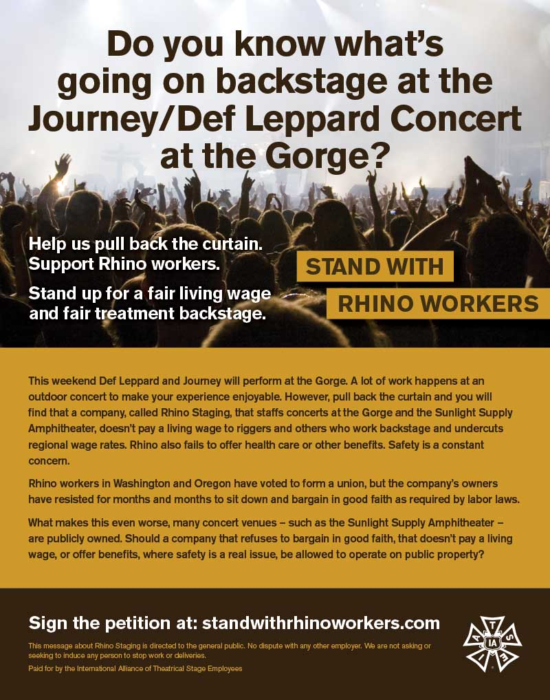 Journey / Def Leppard Concert Ad